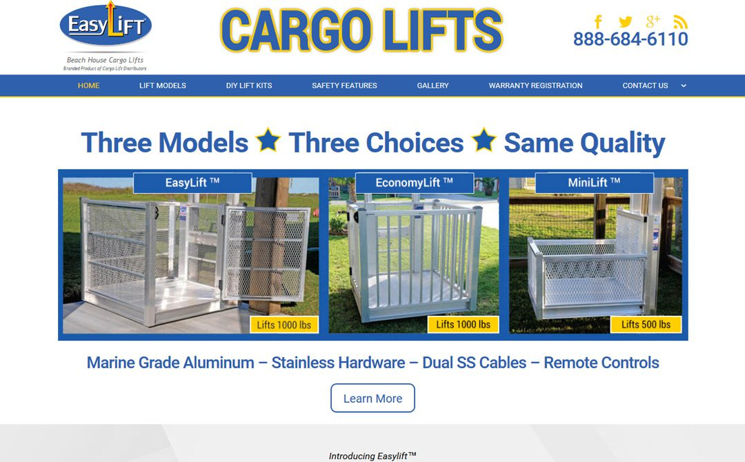 Beach House Cargo Lifts Enet Technologies